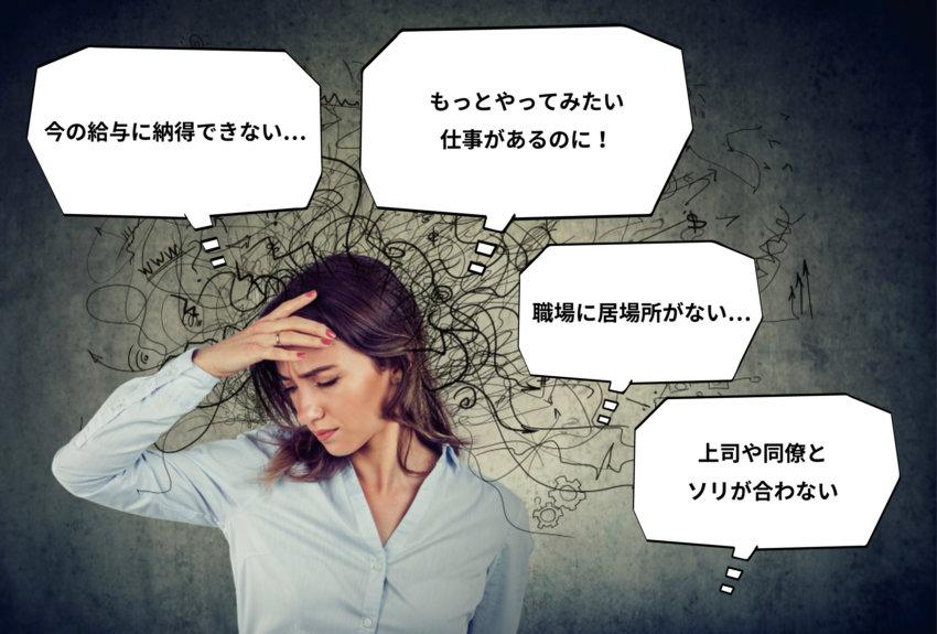 転職を考える人が抱える痛みや悩み